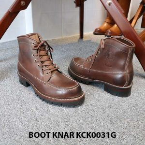 [Outlet size 41] Giày Boot cổ cao buộc dây Knar KCK0031G 003