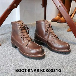 [Outlet size 41] Giày Boot cổ cao buộc dây Knar KCK0031G 001