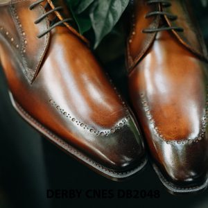 Giày tây nam mũi vuông Derby CNES DB2048 004