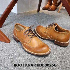 [Outlet size 43] Giày da nam Derby Knar KDB0026G 003