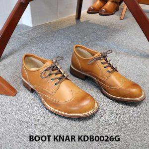 [Outlet size 43] Giày da nam Derby Knar KDB0026G 001