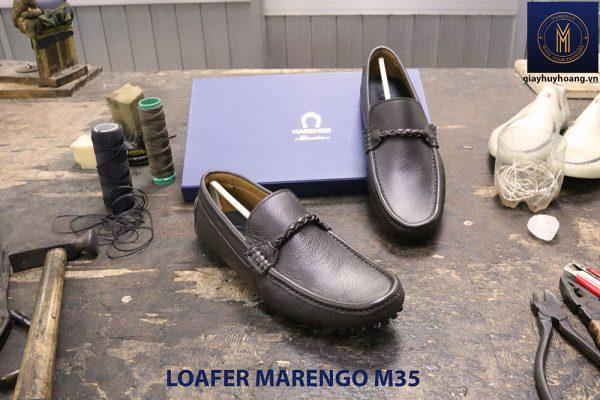 [Outlet size 40] Giày da nam lái xe moto Loafer Marengo M35 004
