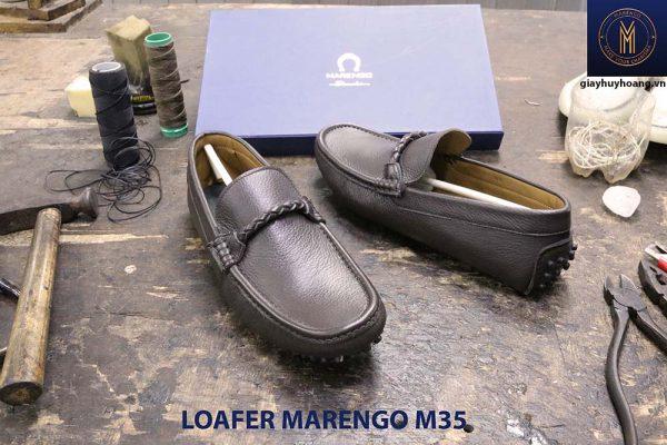 [Outlet size 40] Giày da nam lái xe moto Loafer Marengo M35 003
