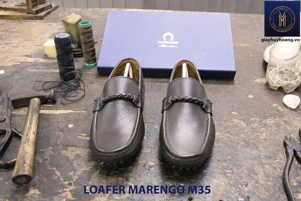[Outlet size 40] Giày da nam lái xe moto Loafer Marengo M35 001