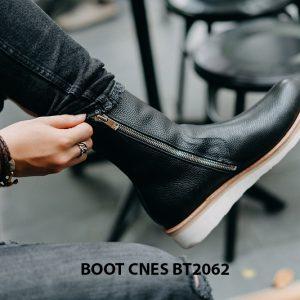 Giày Boot nam dây kéo đế bằng CNES BT2062 004
