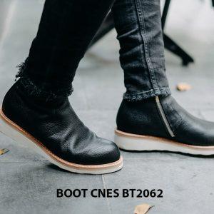 Giày Boot nam dây kéo đế bằng CNES BT2062 001