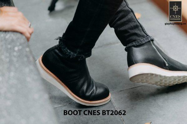 Giày Boot nam dây kéo đế bằng CNES BT2062 003