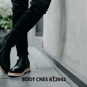Giày Boot nam dây kéo đế bằng CNES BT2062 002