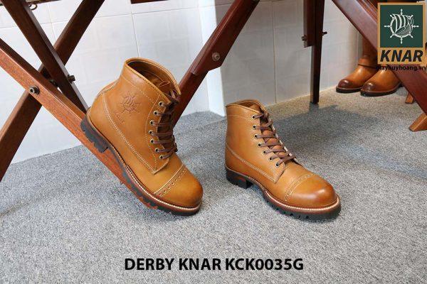 [Outlet size 41] Giày tây nam Boot cột dây Knar KCK0035G 005