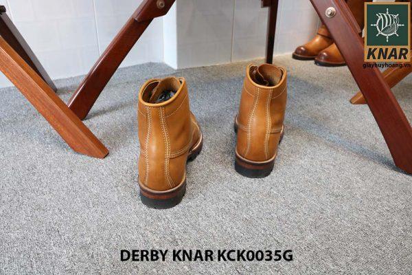 [Outlet size 41] Giày tây nam Boot cột dây Knar KCK0035G 004