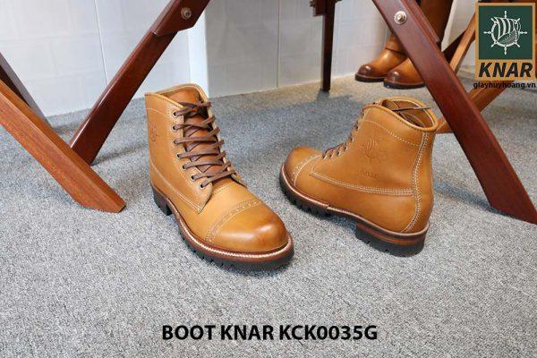 [Outlet size 41] Giày tây nam Boot cột dây Knar KCK0035G 003
