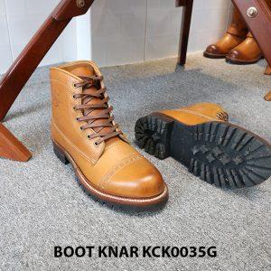 [Outlet size 41] Giày tây nam Boot cột dây Knar KCK0035G 002
