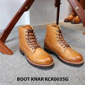 [Outlet size 41] Giày tây nam Boot cột dây Knar KCK0035G 001
