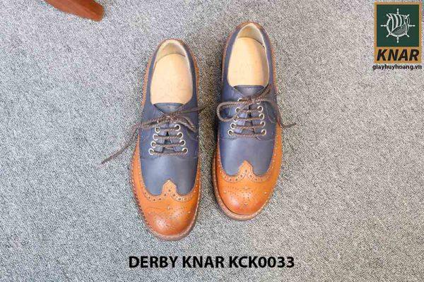 [Outlet size 42] Giày da nam đẹp Derby Knar KCK0033 005