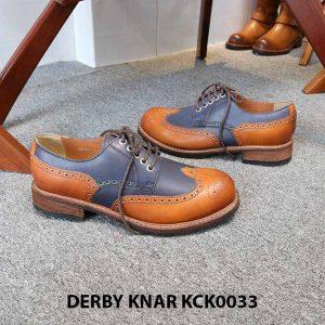 [Outlet size 42] Giày da nam đẹp Derby Knar KCK0033 003