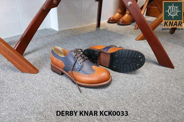 [Outlet size 42] Giày da nam đẹp Derby Knar KCK0033 002