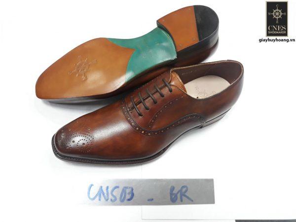 [Outlet size 38] Giày da nam Oxford Cnes CNS03 đế da 001