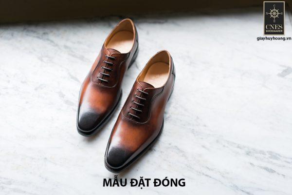 [Outlet size 42] Giày da nam mũi trơn Oxford Cnes CNS02 001