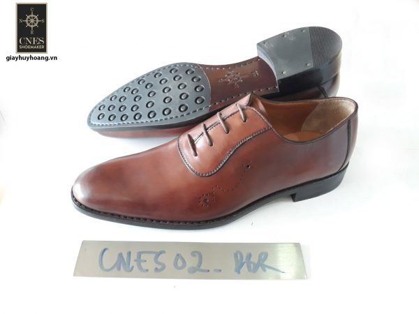 [Outlet size 42] Giày da nam mũi trơn Oxford Cnes CNS02 002