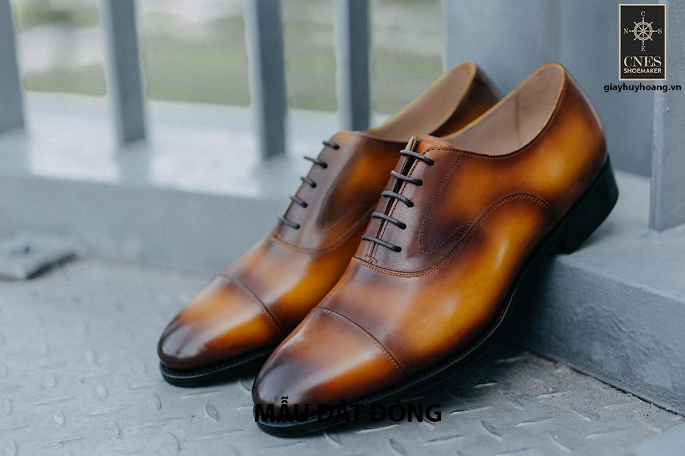 [Outlet size 40] Giày da nam xanh lá Oxford Cnes M1 001