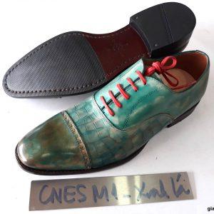 [Outlet size 40] Giày da nam xanh lá Oxford Cnes M1 002