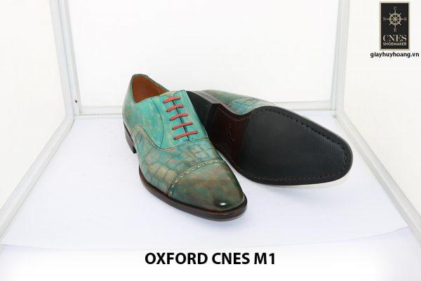 [Outlet size 40] Giày da nam xanh lá Oxford Cnes M1 007