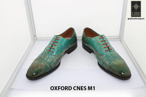 [Outlet size 40] Giày da nam xanh lá Oxford Cnes M1 006