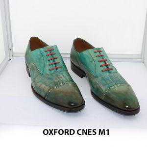 [Outlet size 40] Giày da nam xanh lá Oxford Cnes M1 005