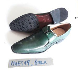 [Outlet size 41] Giày tây nam xanh lá Derby CNES CNS18 001