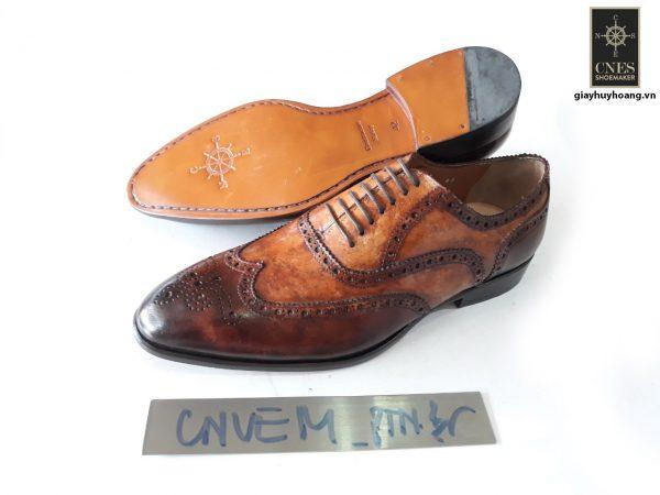 [Outlet size 41] Giày da nam công sở Oxford Cnes CNVEM 002