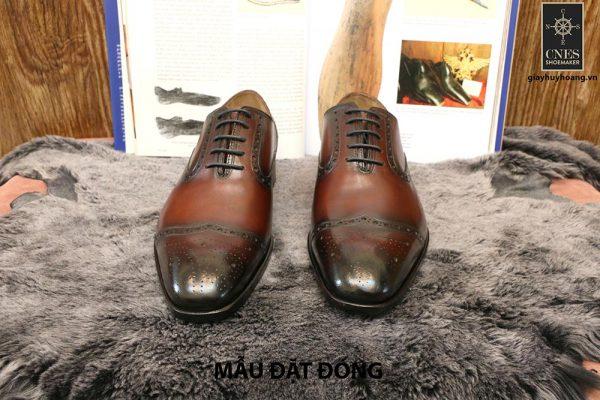 [Outlet size 42] Giày tây nam màu nâu Oxford Cnes CNS49 001