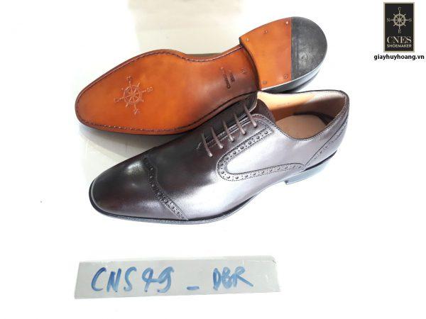 [Outlet size 42] Giày tây nam màu nâu Oxford Cnes CNS49 002
