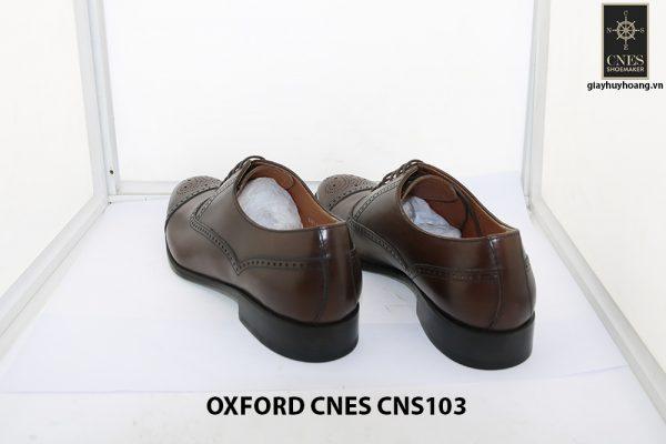 [Outlet size 41] Giày da nam Captoe Oxford Cnes CNS103 004