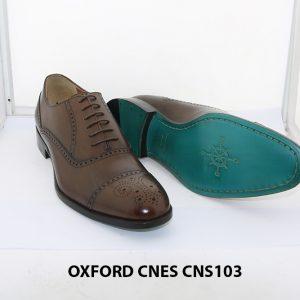 [Outlet size 41] Giày da nam Captoe Oxford Cnes CNS103 003
