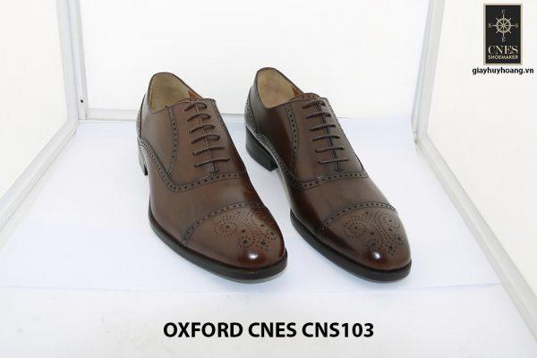 [Outlet size 41] Giày da nam Captoe Oxford Cnes CNS103 001