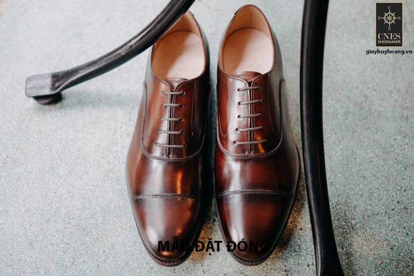 [Outlet size 45] Giày da nam cao cấp Oxford Cnes U1708 001