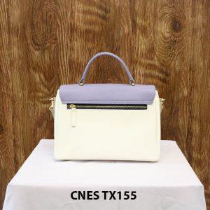 Túi xách da bê nữ màu kem CNES TX155 003