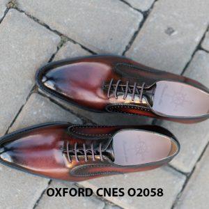Giày da bê pháp cho nam Oxford CNES O2058 014