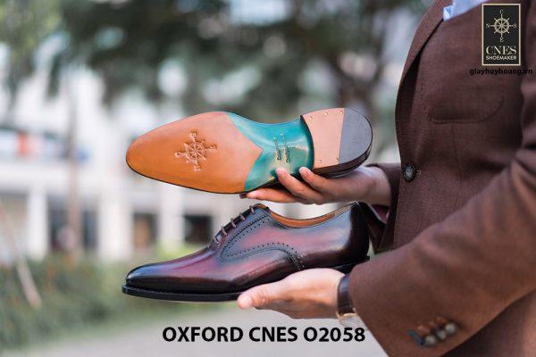 Giày da bê pháp cho nam Oxford CNES O2058 013