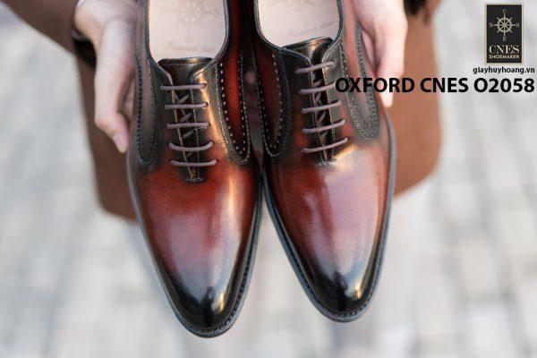 Giày da bê pháp cho nam Oxford CNES O2058 012