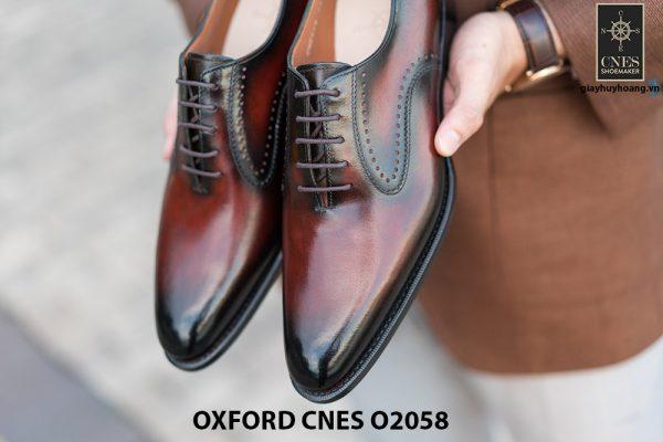 Giày da bê pháp cho nam Oxford CNES O2058 0010