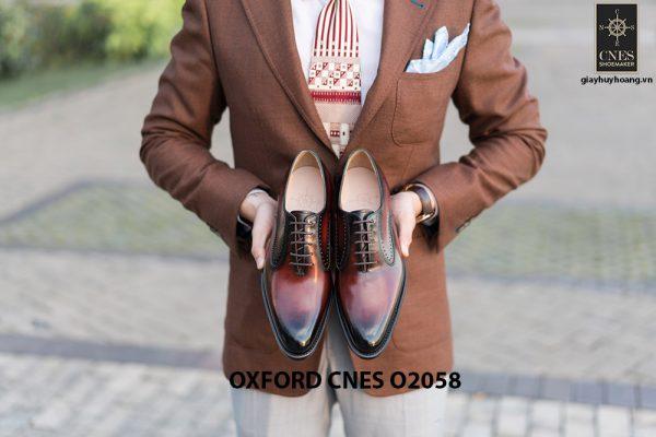 Giày da bê pháp cho nam Oxford CNES O2058 009