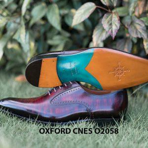 Giày da bê pháp cho nam Oxford CNES O2058 008