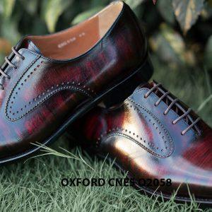 Giày da bê pháp cho nam Oxford CNES O2058 007