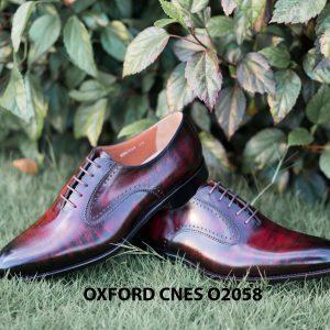 Giày da bê pháp cho nam Oxford CNES O2058 006