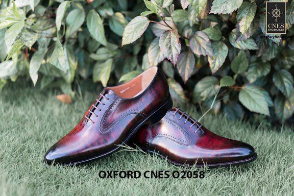 Giày da bê pháp cho nam Oxford CNES O2058 005