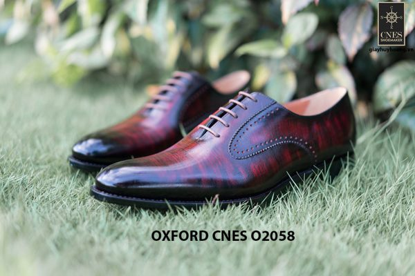 Giày da bê pháp cho nam Oxford CNES O2058 004