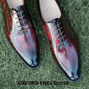 Giày da bê pháp cho nam Oxford CNES O2058 003