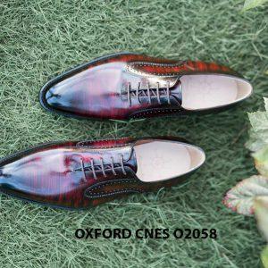 Giày da bê pháp cho nam Oxford CNES O2058 002