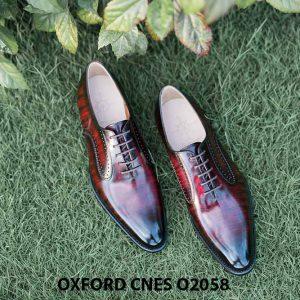 Giày da bê pháp cho nam Oxford CNES O2058 001